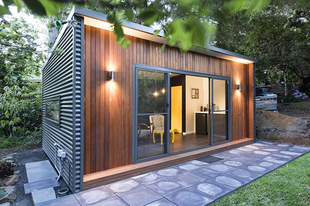 tiny and fully functional prefab weekend home