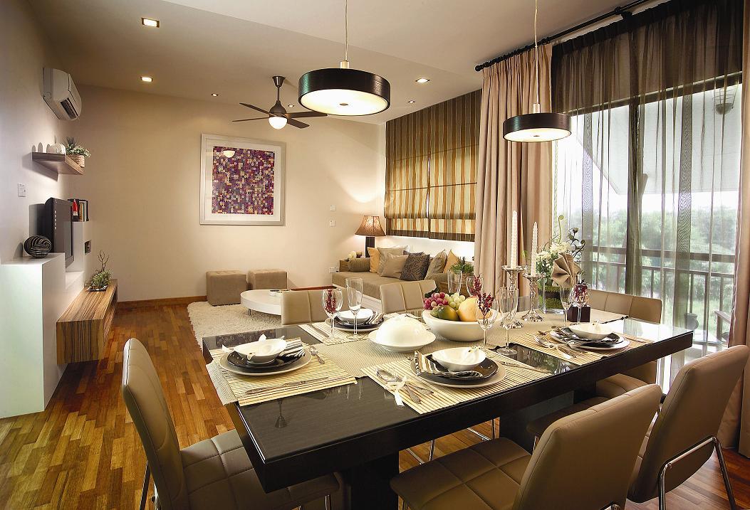 dining hall in Seri Penaga malaysia luxurious apartment