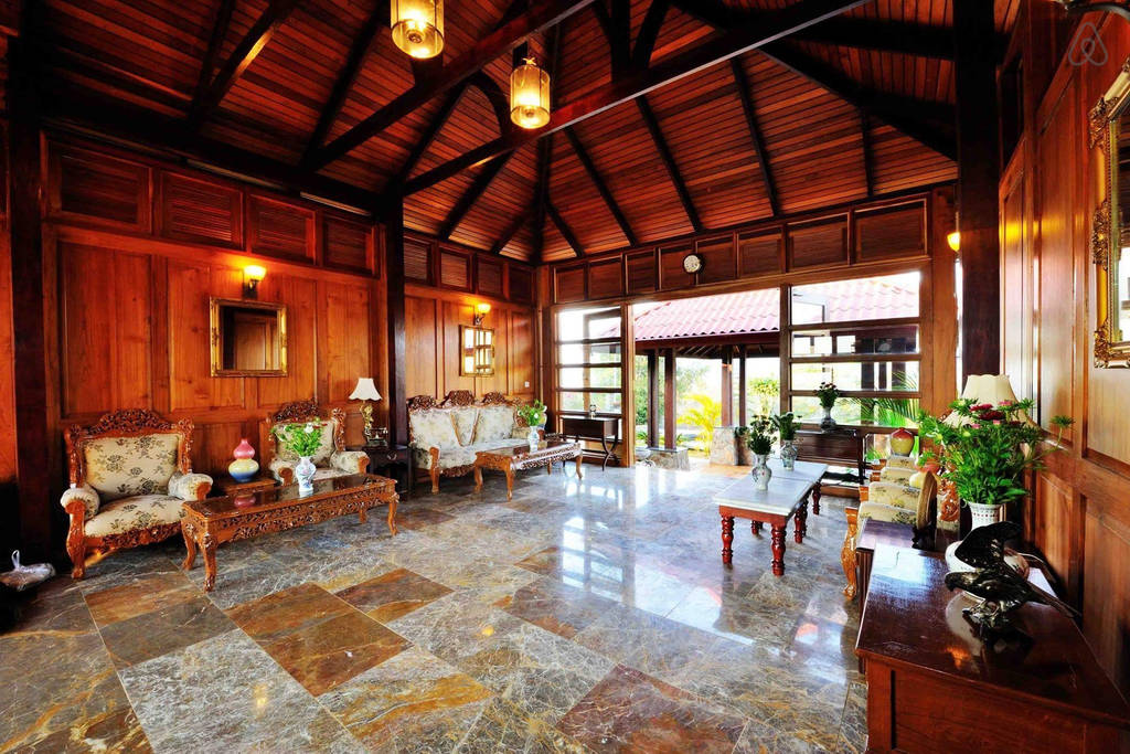 entrance hallway of crest villa the most expensive home in Myanmar