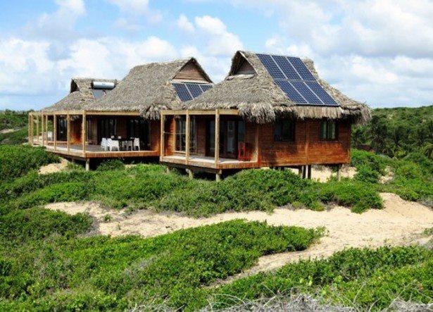 even cottage has solar panel