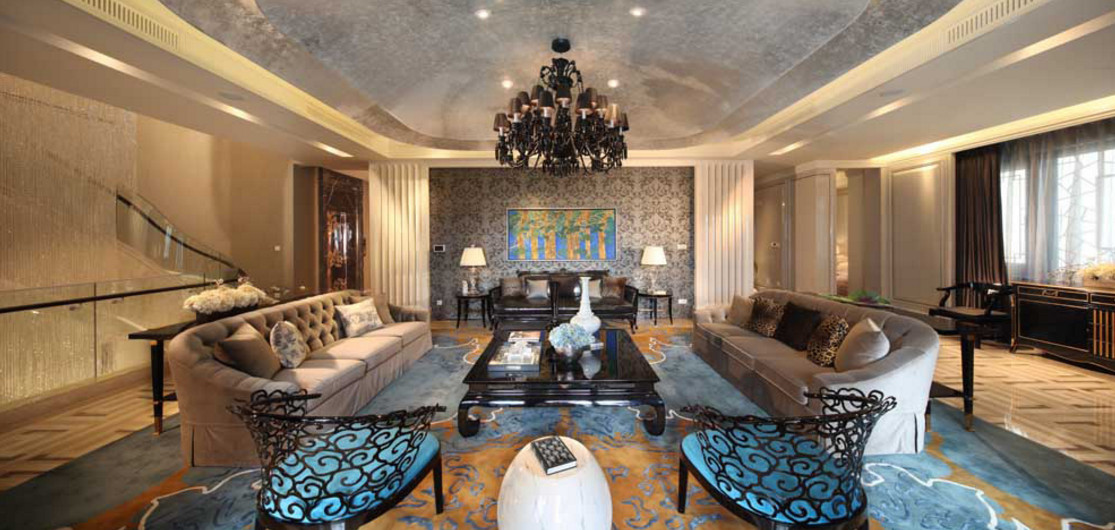 living room of the most expensive ancient home in china