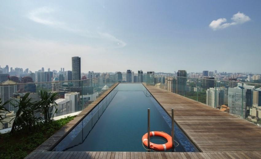 sculptura-ardmore roof top swimming pool