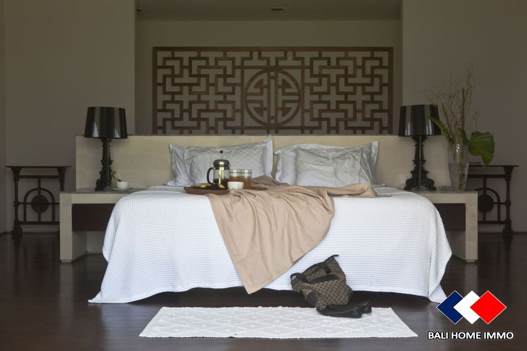 super comfortable bed in a luxury Bali home