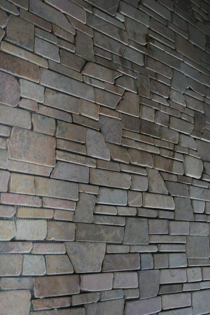 interesting stone cladding pattern