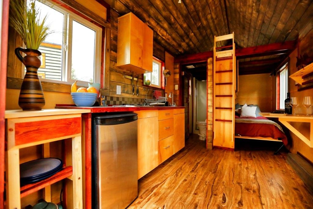 interior of a micro home RV