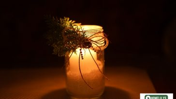 old jam jar candle holder diy in the dark