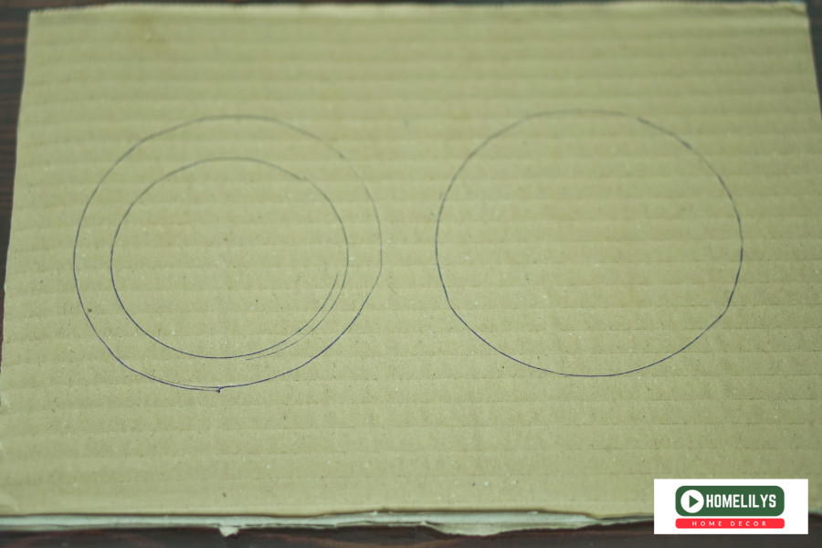prepare to cut cardboard into two circles like here