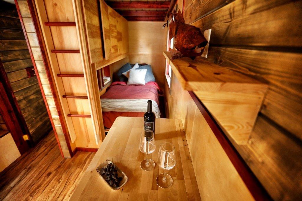 the little home on wheel interior photo