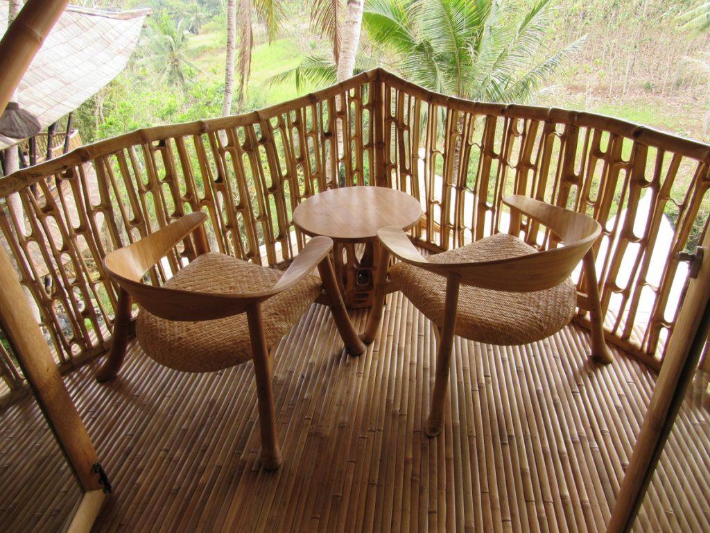 bambo chair at Ananda house