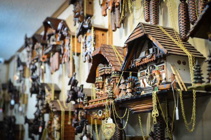 chalet style cuckoo clock on the wall