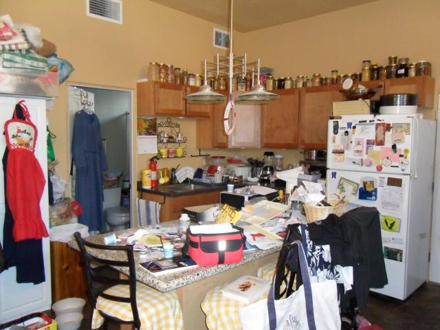 cluttered kitchen is a health hazard