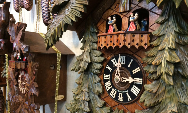 coo coo clock with hummel figurine