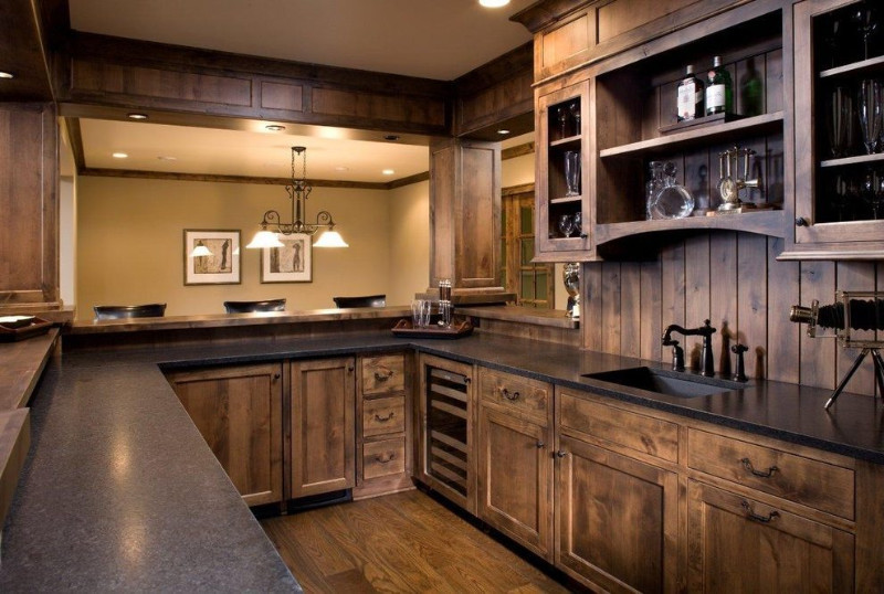 ebony wooden rustic cupboard for kitchen