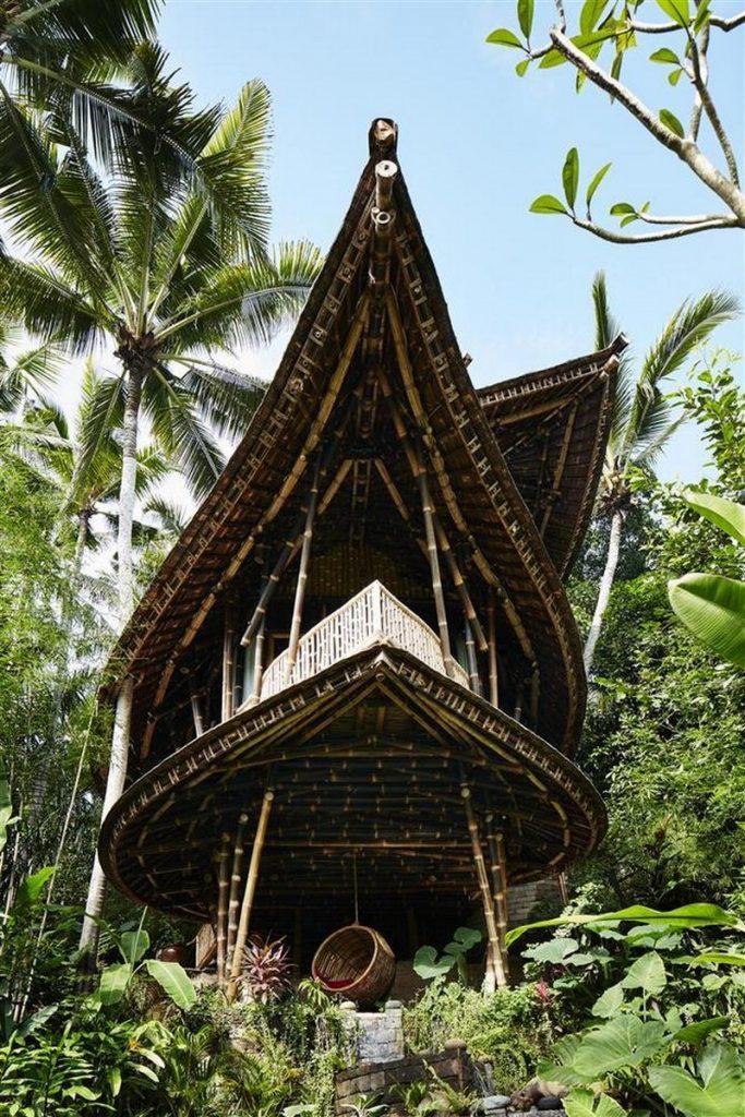leaf shaped ananda house in bali