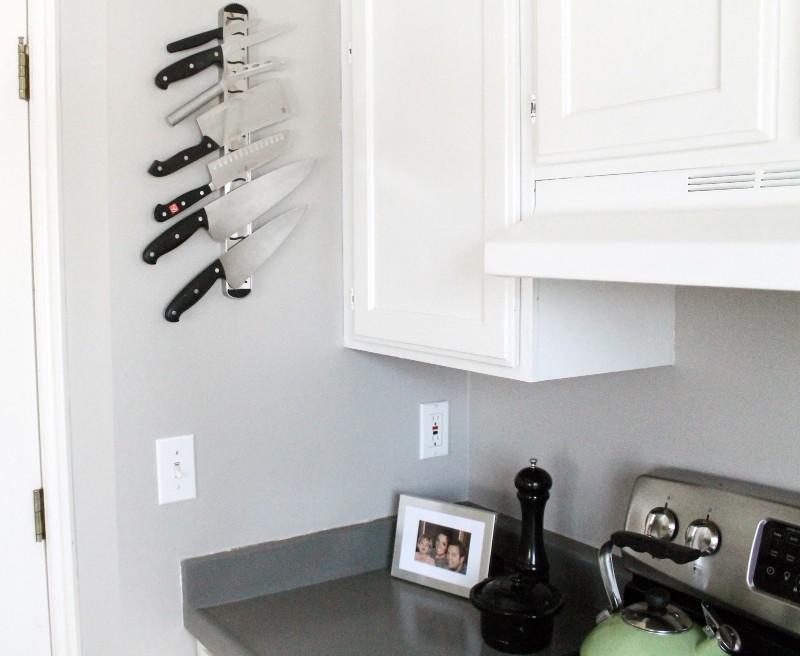 magnetic knife strip ikea hack for kitchen