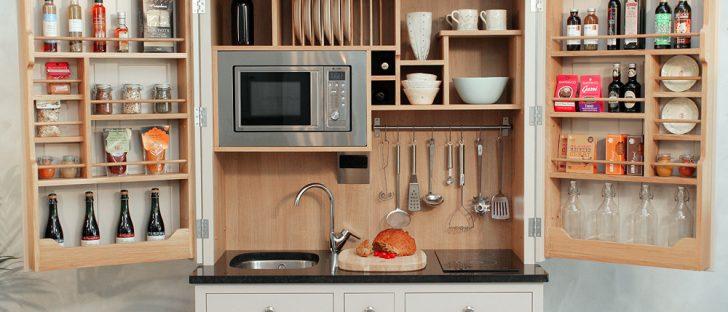mini kitchen in a small space