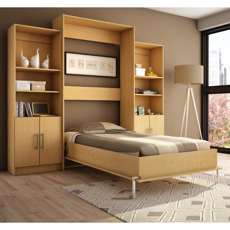 murphy single bed with bookshelve