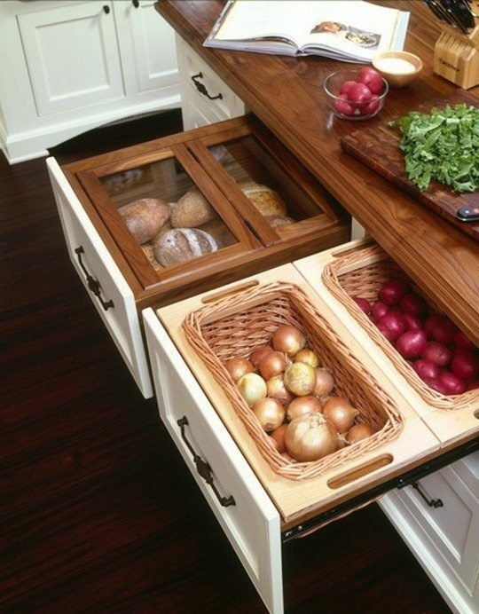 pullout drawer with compartment