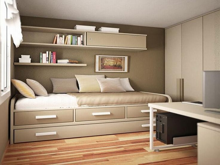 single bed arrangement right next to the wall
