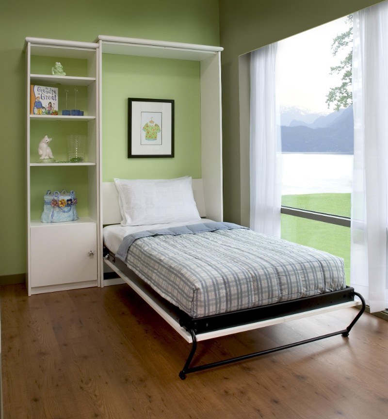 single pull down murphy bed