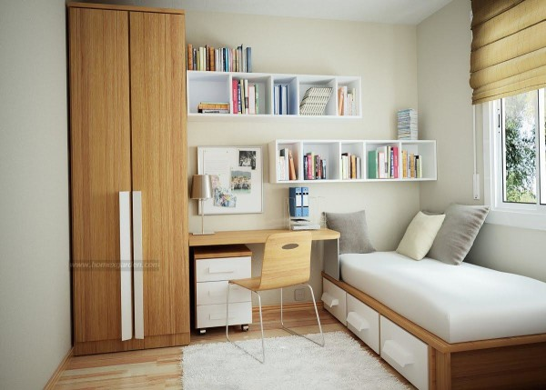 super cute and cool single bed for small space