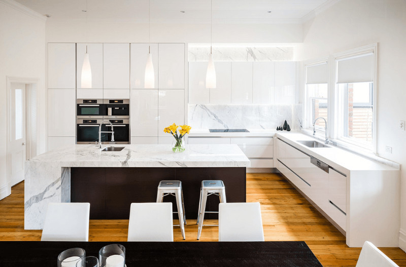 super white is the new fashion kitchen countertops