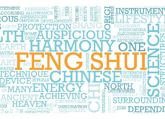 feng shui tag cloud with lots of energy