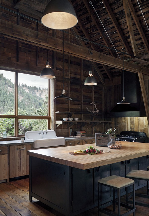 kitchen islands in the canyon barn