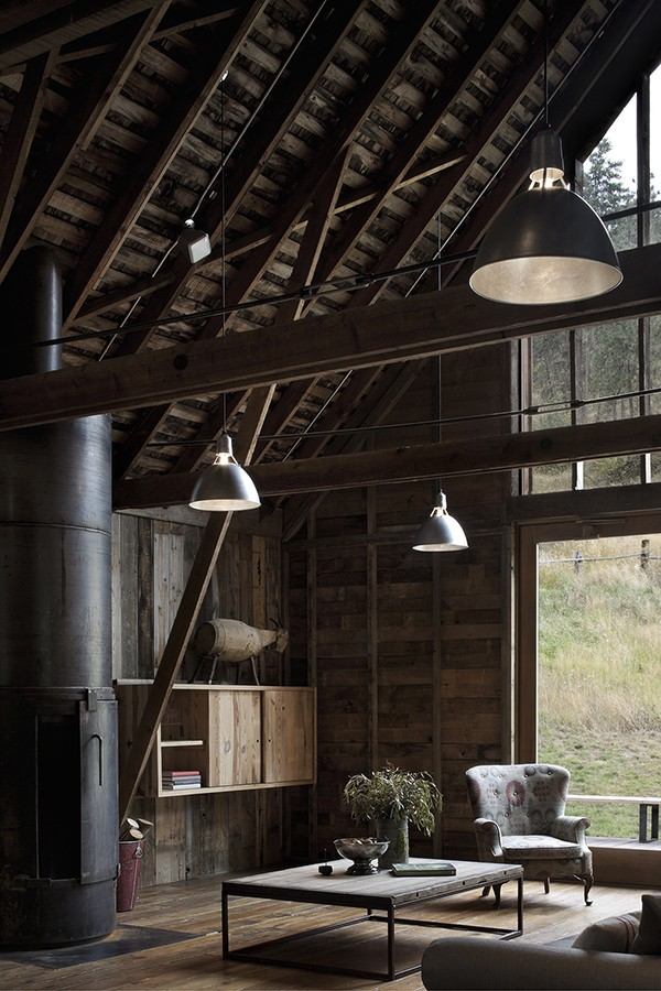 living room of canyon barn by mwworksarchitects