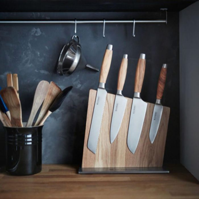 magnetic board for kitchen knife decor