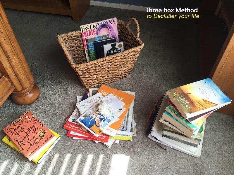 three box method towards decluttering your life