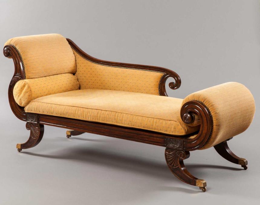 Antique Regency Rosewood Chaise Longue 1825