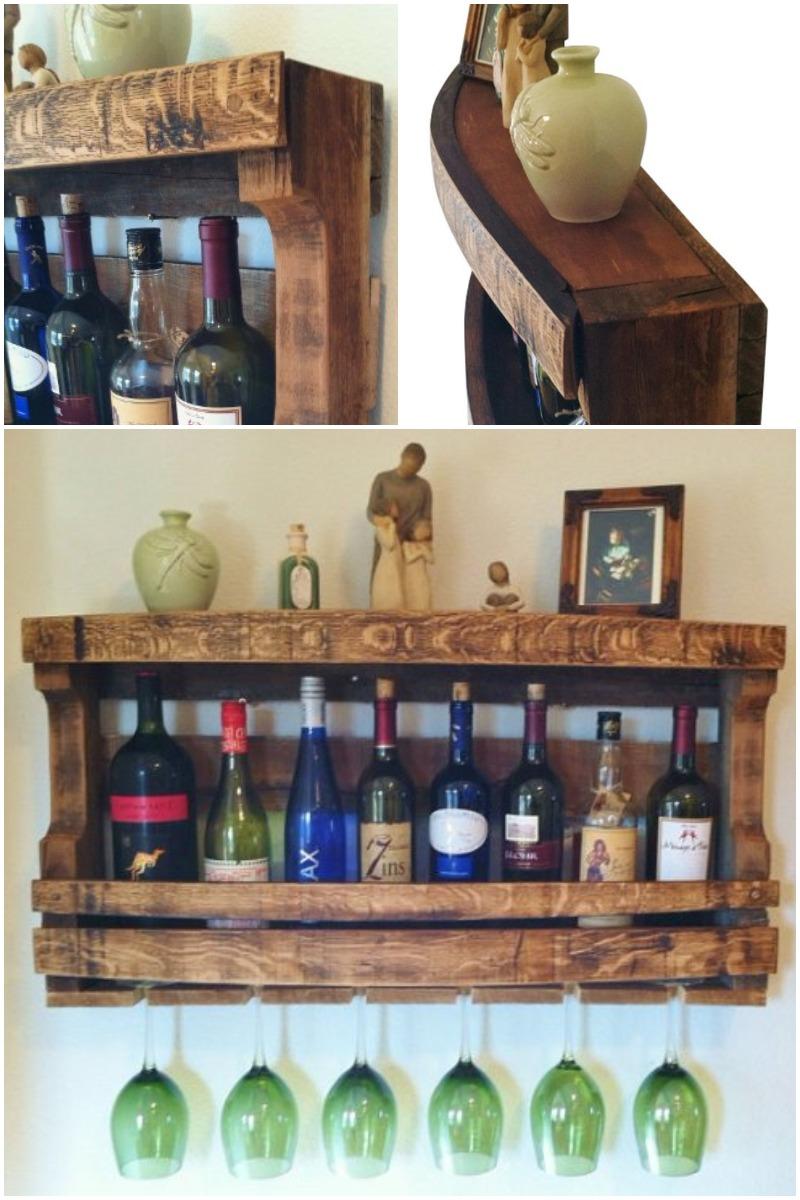 Napa Valley Reclaimed Wood Wine Rack