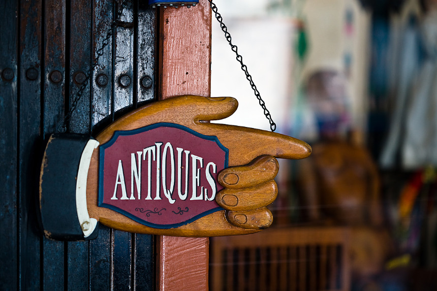 antique wooden sign board