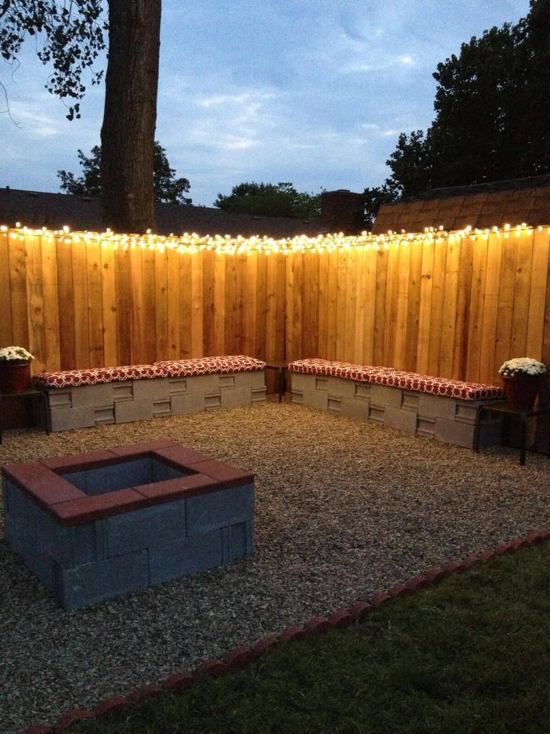 backyard lighting on the wall