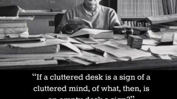 einstein famous quote for cluttered desk