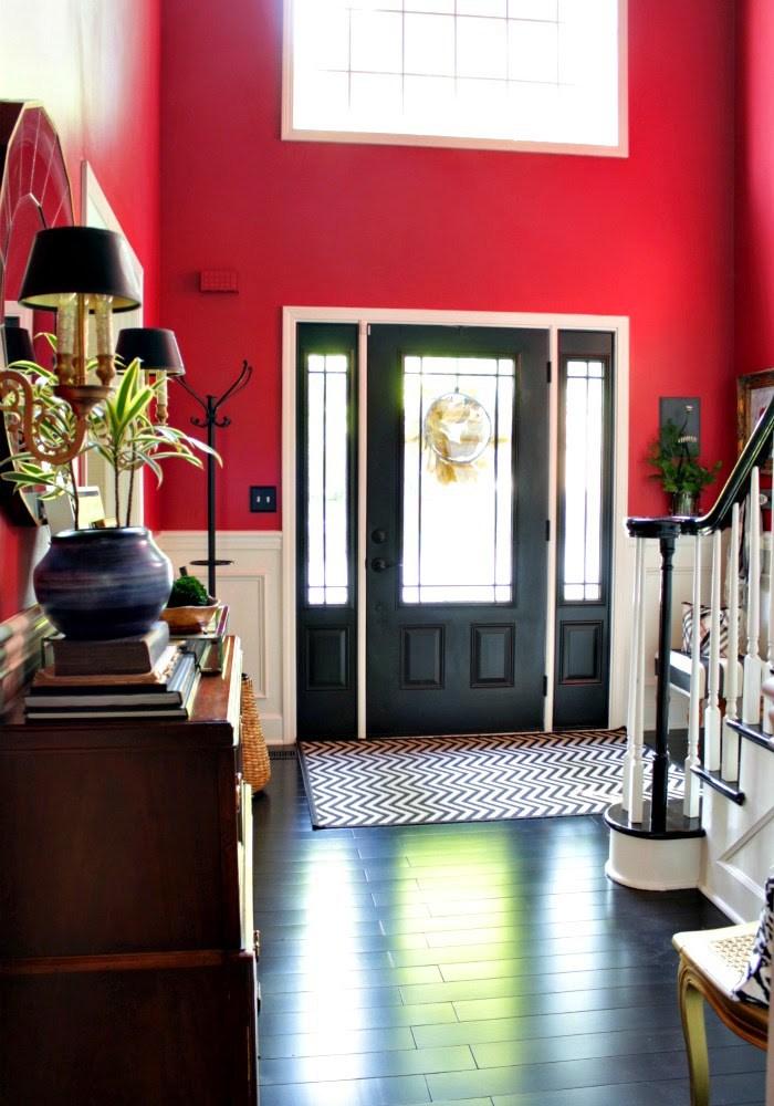 paint interior door black