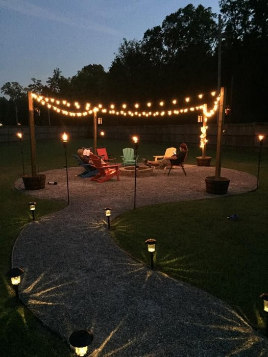 party outdoor lighting concept
