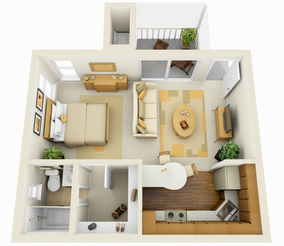 small studio apartment layout ideas
