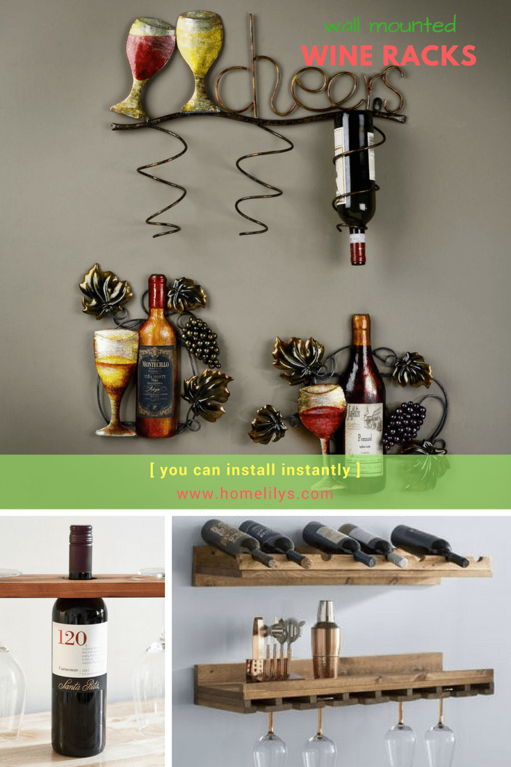 wall mounted wine rack you can install instantly