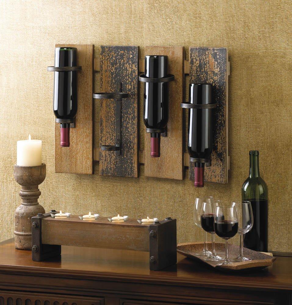 wine wall rack install installation