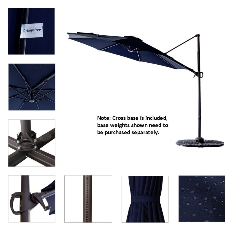 chopetree large patio offset umbrella