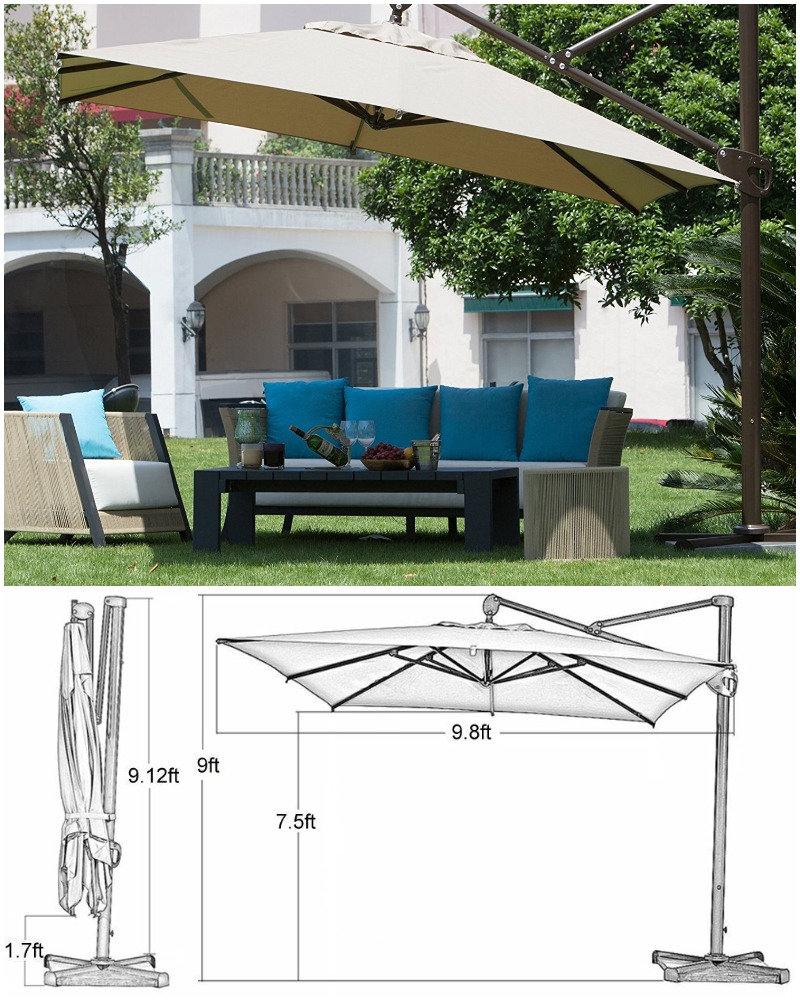 rectangular cantilever umbrella