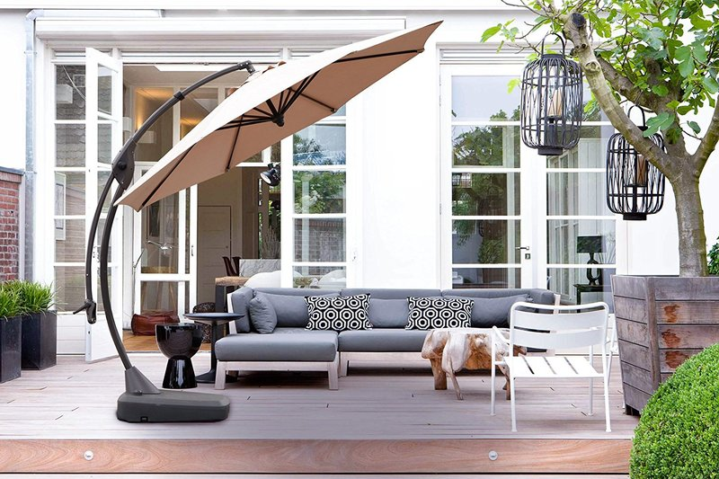 super large curved patio umbrella