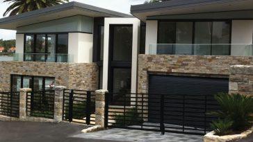 tile facade cladding in Australian home