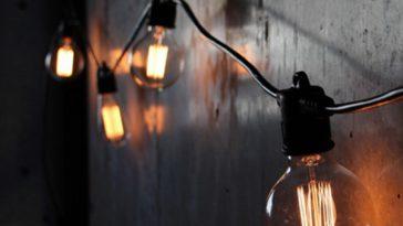 string light decor in shop