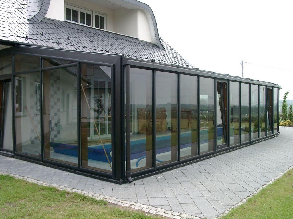 winter garden housing swimming pool