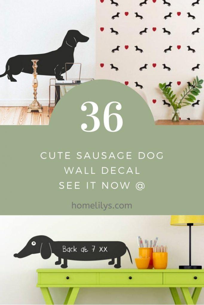 36 cute sausage dog wall sticker