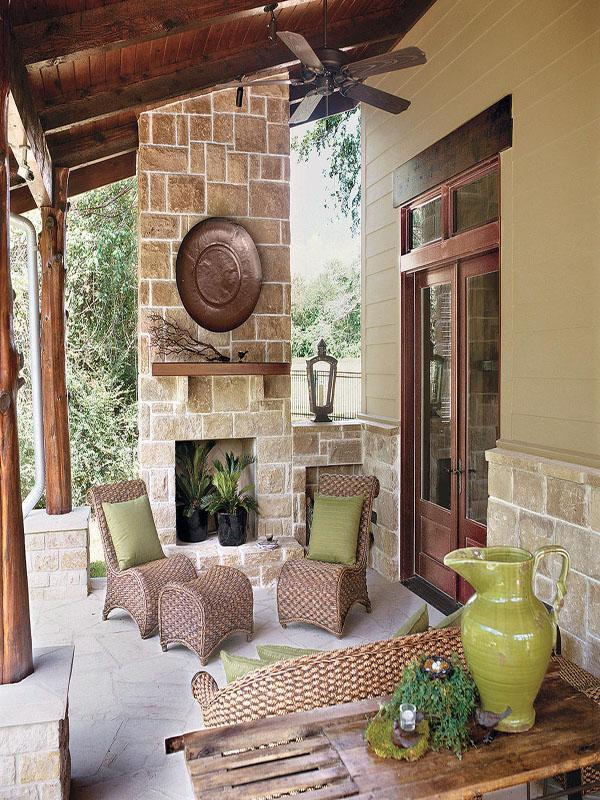 backyard luxury texas rustic home