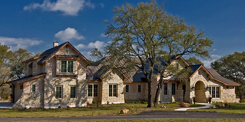 timeless and elegant country hill house style in texas